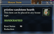 Pristine sandstone hearth