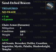 Sand-Etched Bracers