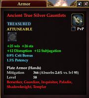 Ancient True Silver Gauntlets