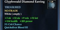 Glyphweald Diamond Earring