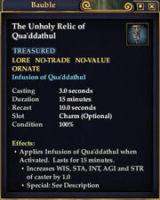 The Unholy Relic of Qua'ddathul