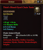 Thief's Blood-Dyed Chain Tunic