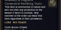 Academy of Logistics Ceremonial Smithing Tunic