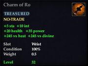 Charm of Ro