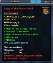 Boots of the Frozen Dead