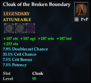 Cloak of the Broken Boundary