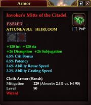 Invoker's Mitts of the Citadel