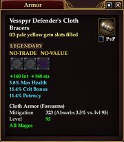 Vesspyr Defender's Cloth Bracers
