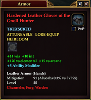 Hardened Leather Gloves of the Gnoll Hunter