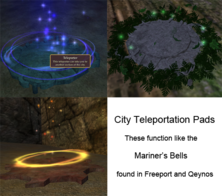 City Teleportation Pads All
