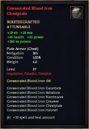 Consecrated Blood Iron Chestplate