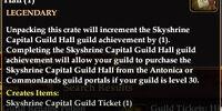 Skyshrine Capital Guild Ticket
