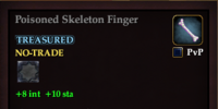 Poisoned Skeleton Finger