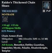 Raider's Thickened Chain Shoes
