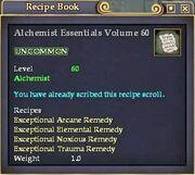Alchemist Essentials Volume 60