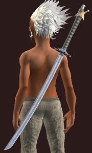 Blessed Iron Katana (Equipped)