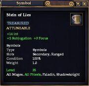 Stein of Lies