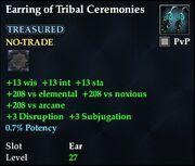 Earring of Tribal Ceremonies