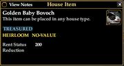 Golden Baby Bovoch Info