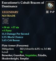 Executioner's Cobalt Bracers of Dominance