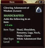 Glowing Adornment of Wisdom (Lesser)