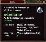 Flickering Adornment of Wisdom (Lesser)