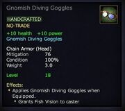 Gnomish Diving Goggles