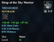 Strap of the Sky Warrior