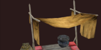 Shaded draconic table and vase set, version 2