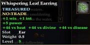 Whispering Leaf Earring