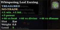 Whispering Leaf Earring
