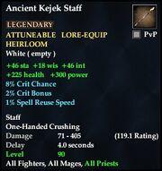 Ancient Kejek Staff
