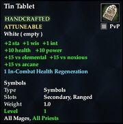 Tin Tablet