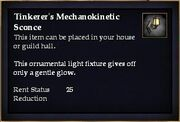 Tinkerer's Mechanokinetic Sconce