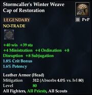 Stormcaller's Winter Weave Cap of Restoration