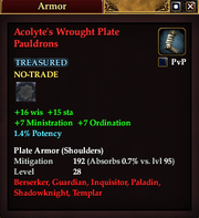Acolyte's Wrought Plate Pauldrons