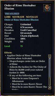 Order of Rime Sleetsaber Illusion