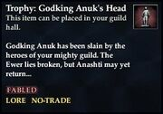 Trophy Godking Anuks Head