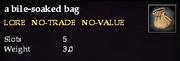 A bile-soaked bag