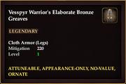 Vesspyr Warrior's Elaborate Bronze Greaves