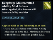 Deepforge Mastercrafted Ability Mod Infuser