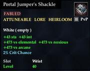Portal Jumper's Shackle