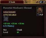 Powerful Medium's Shroud