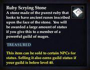 Ruby Scrying Stone