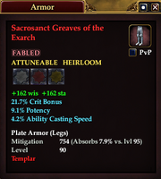Sacrosanct Greaves of the Exarch