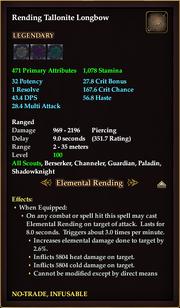 Rending Tallonite Longbow