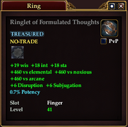 Ringlet of Formulated Thoughts