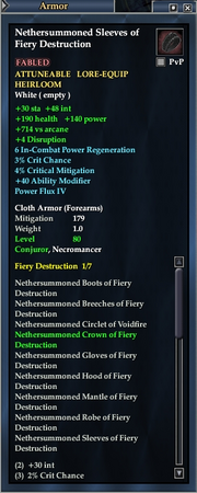 Nethersummoned Sleeves of Fiery Destruction