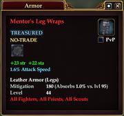 Mentor's Leg Wraps