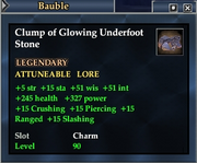 Clump of Glowing Underfoot Stone